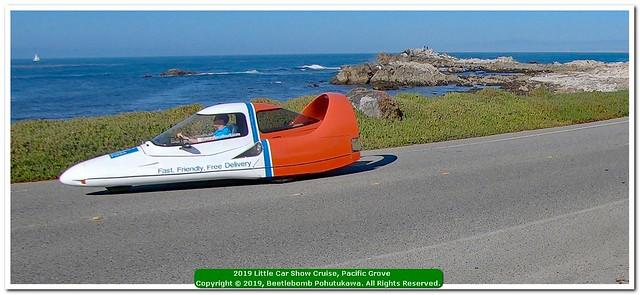 20190814: Little Car Show Cruise, Pacific Grove: UFO Landed? 1985 Tritan A2 Aero Car