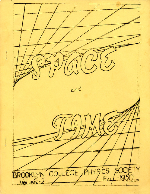 Space and Time - Brooklyn College Physics Society - Vol. 2, Fall 1950