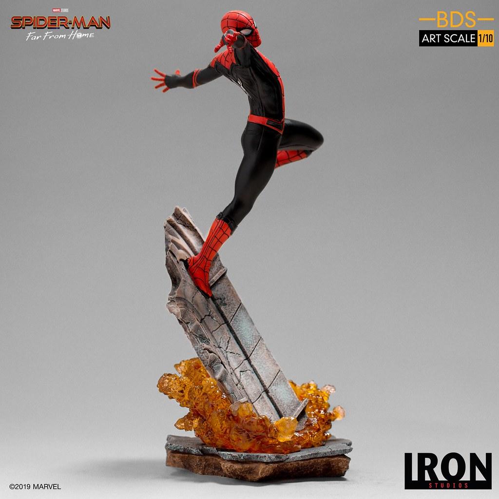 Iron Studios Battle Diorama 系列《蜘蛛人:離家日》蜘蛛人 Spider-Man 1/10 比例決鬥場景雕像
