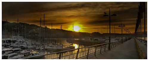 Amanecer en el puerto de Sanxenxo