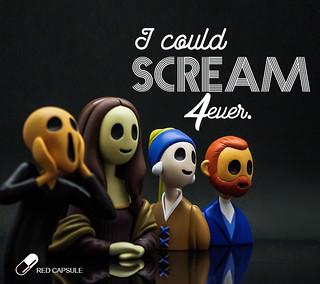 空洞但不失禮貌的微笑...... Red Capsule【無聲吶喊】Scream 4ever 盒抽系列 可愛又可怕登場~