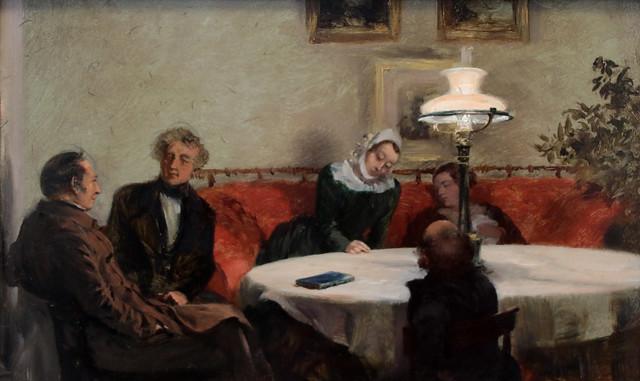 Adolph Friedrich Erdmann von Menzel (Breslavia, 8 dicembre 1815 – Berlino, 9 febbraio 1905) - serata di festa  (Abendgesellschaft (1847) - Alte Nationalgalerie, Berlino
