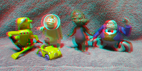 MCDONALDS HAPPY MEAL TOYS 80S AND 90S 3D RED CYAN ANAGYLPH-1