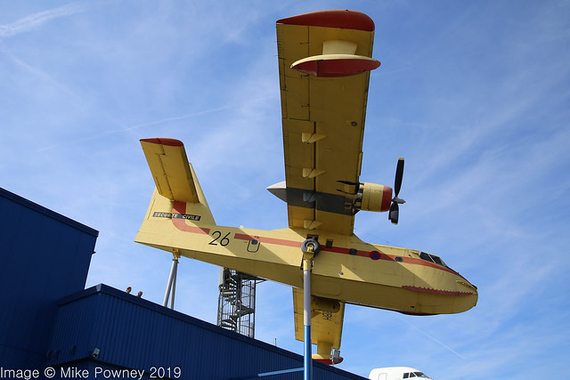 F-ZBBH - 1969 build Canadair CL-215-1, elevated display at the Sinsheim museum