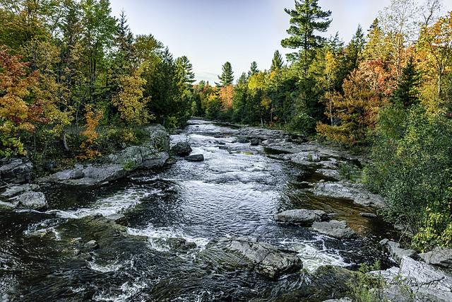 Huron River at Big Eric's Falls in Baraga County, Michigan