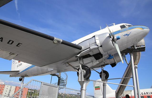N8041A - 1944 build Douglas C-47A Dakota, roof display at the Sinsheim museum as 'D-CADE'