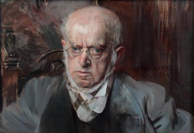 Giovanni Boldini (Ferrara, 31 dicembre 1842 – Parigi, 11 gennaio 1931) - il pittore Adolf Menzel  (1895) - Alte Nationalgalerie, Berlino