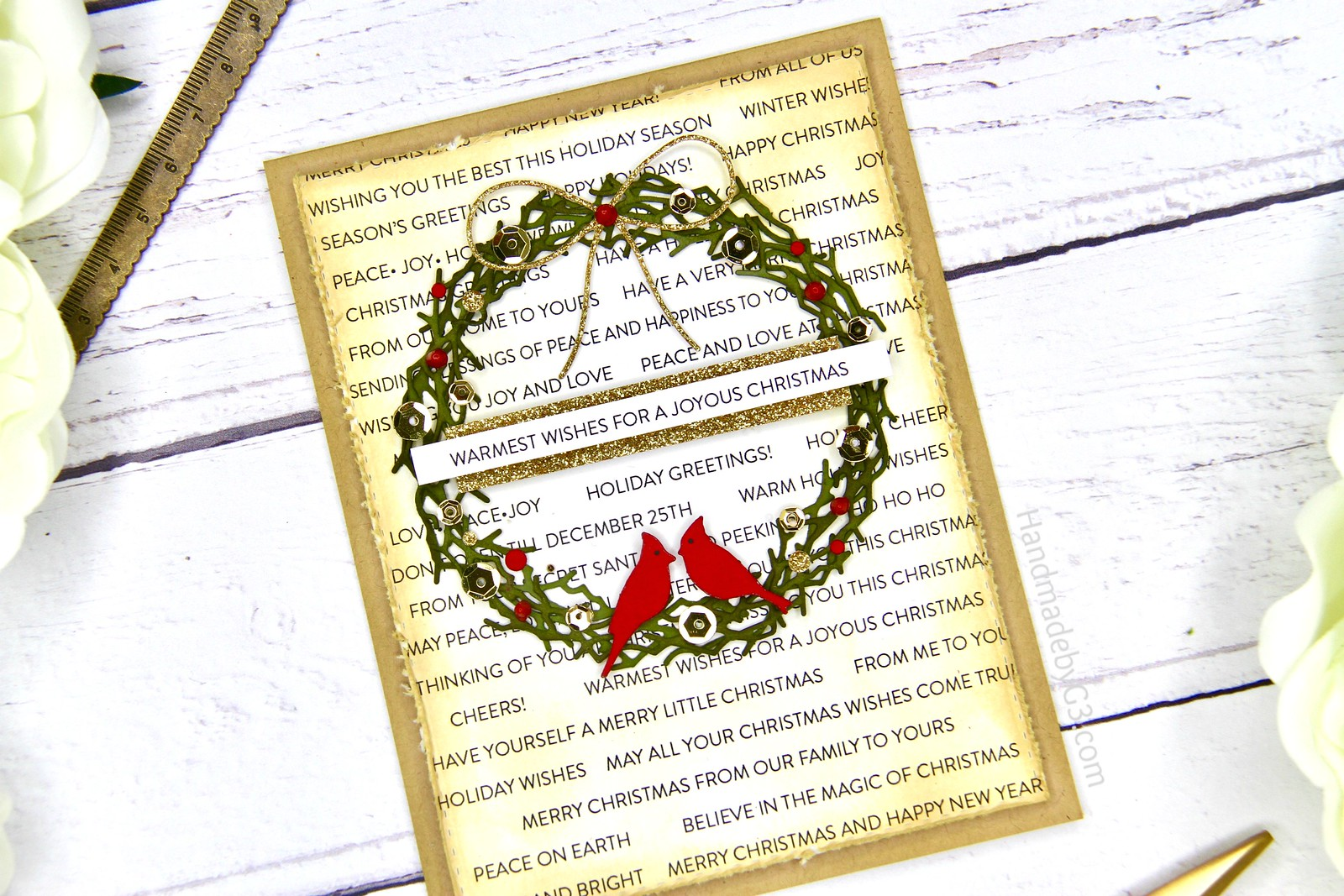 SSS Joyous Christmas card closeup1