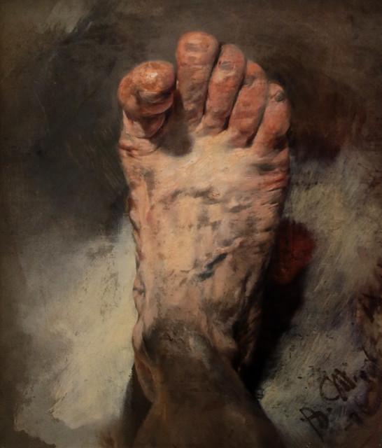 Adolph Friedrich Erdmann von Menzel (Breslavia, 8 dicembre 1815 – Berlino, 9 febbraio 1905) - Il piede dell'artista all'età di 60 anni (Der Fuß des Künstlers 1876)  - Alte Nationalgalerie, Berlino