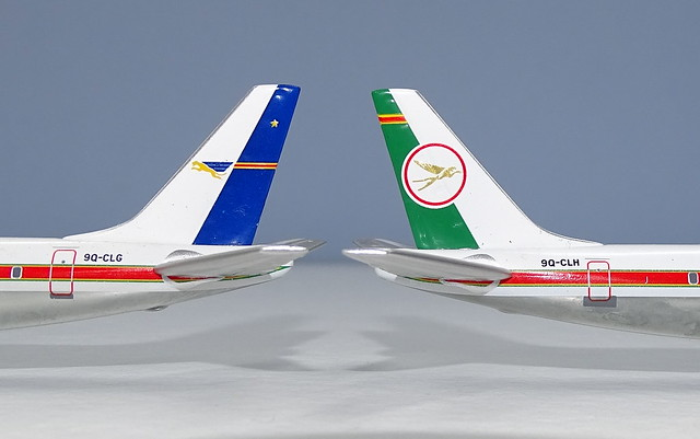 Air Congo & Air Zaire Douglas DC-8-63CFs 9Q-CLG and CLH
