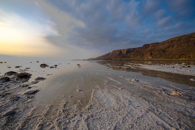 Sunrise at the Dead Sea.