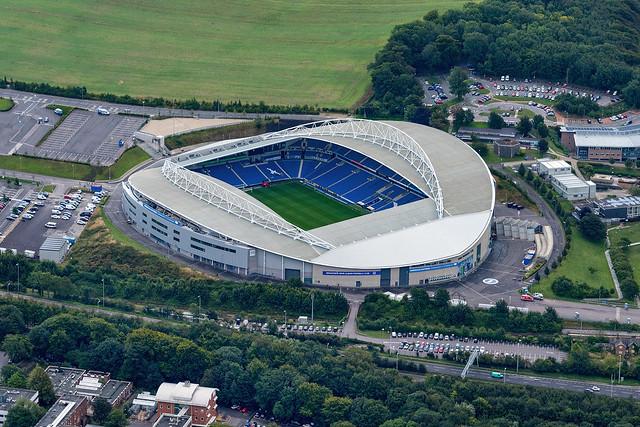 Brighton Hove Albion football stadium aerial image
