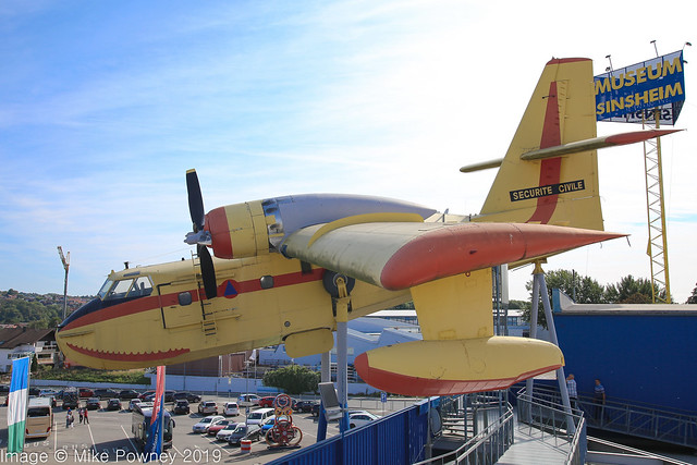 F-ZBBH - 1969 build Canadair CL-215-1, roof display at the Sinsheim museum