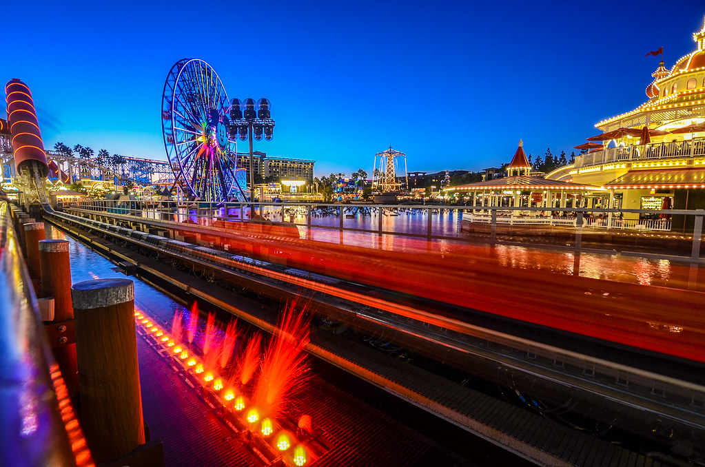 Incredicoaster in motion DCA night