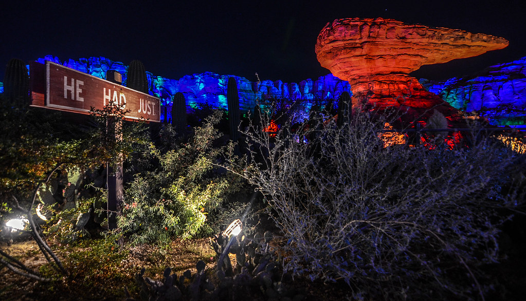 Cars Land RSR night DCA