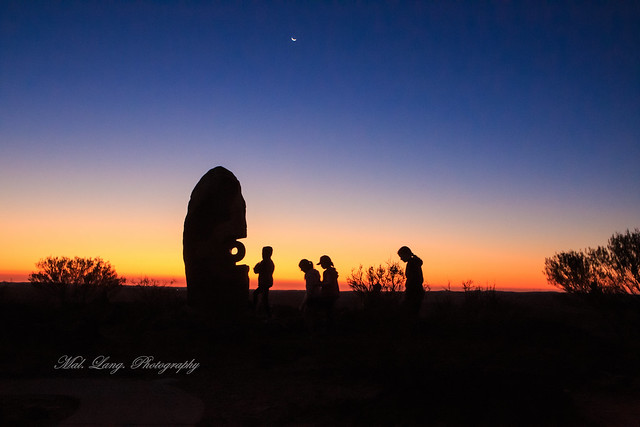 Sunset in the desert Broken Hill New South Wales