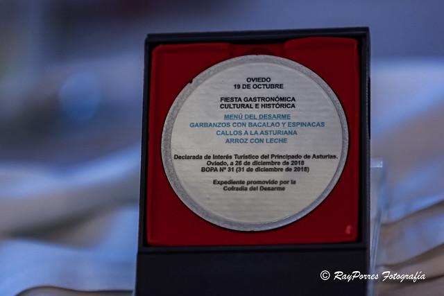 Comida en el Hotel España del VII. Capitulo de la Cofradía del Desarme de Oviedo, Principado de Asturias, España.