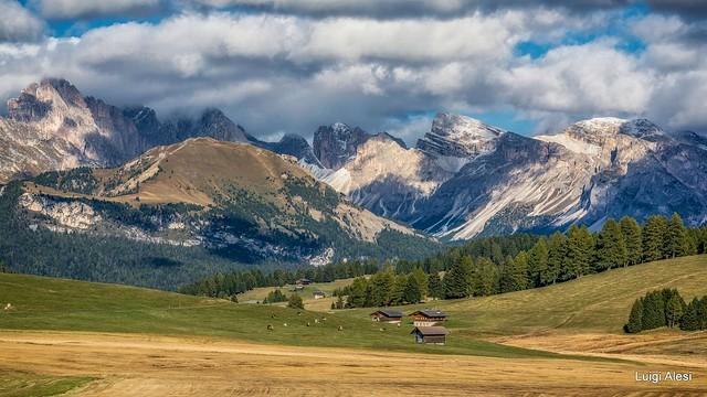 Dolomiti - Alpi di Siusi e le Odle sullo sfondo