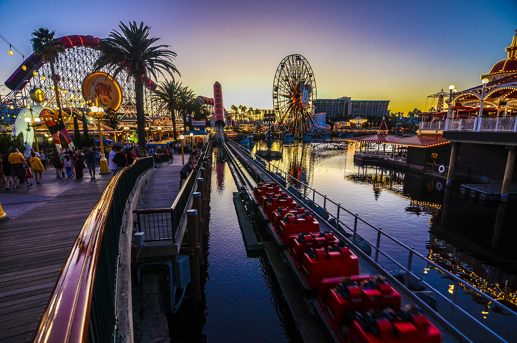 Incredicoaster sunset Pixar Pier DCA