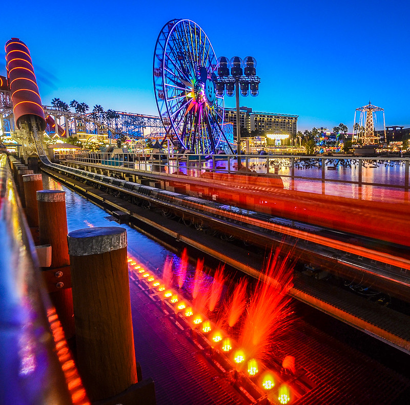 Incredicoaster in motion DCA night tall