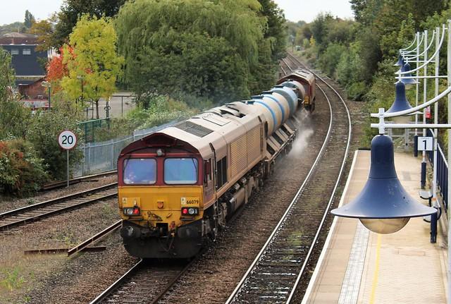 EWS - DB Cargo 66079 & 66206 - Mansfield Woodhouse