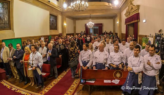 VII. Capítulo Cofradía del Desarme celebrado el 13 de Octubre de 2019 en el Paraninfo del Edificio Histórico de la Universidad de Oviedo, , Principado de Asturias, España.