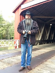 Self Next To Red Covered Bridge In Princeton8DB0C468-B415-438B-BB3D-6FA227D4BC24