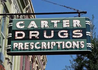 GA, Barnesville-U.S. 41(Old) Carter Drug Store Neon Sign