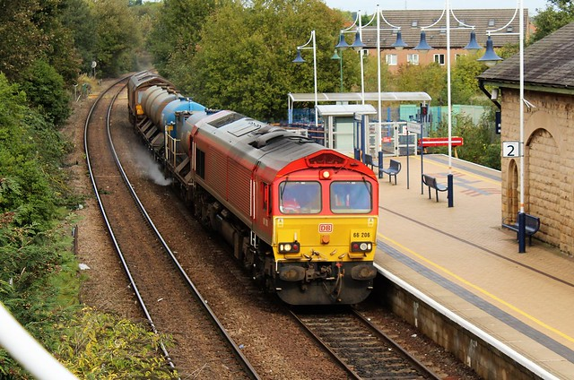DB Cargo 66206 & 66079 - Mansfield Woodhouse