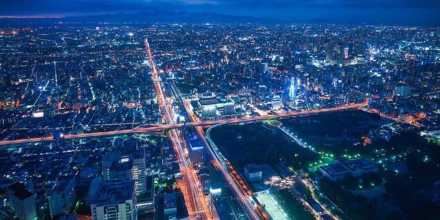 あべのハルカスからの大阪夜景