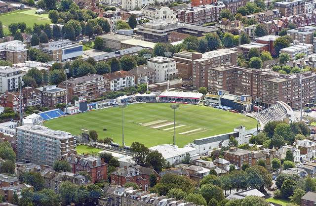 Sussex County Cricket ground - Brighton Hove aerial image