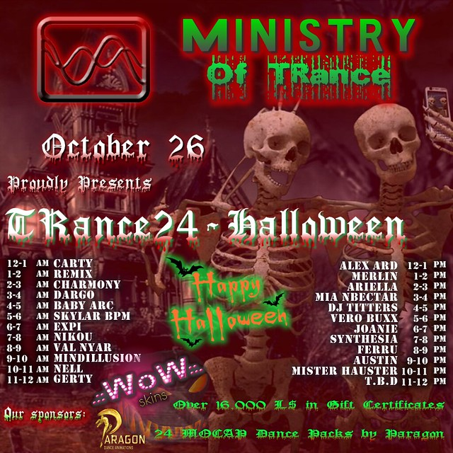 MINISTRY of TRance - TRance24 - HALLOWEEN PARTY