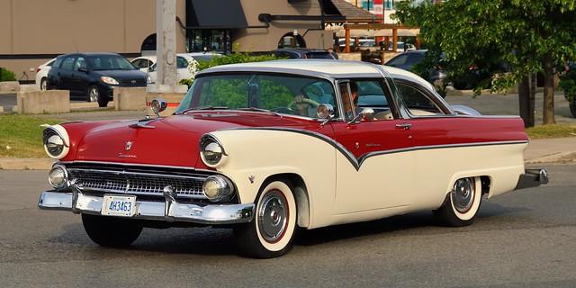 1955 Ford Fairlane Crown Victoria two-door - Queensway, Toronto.