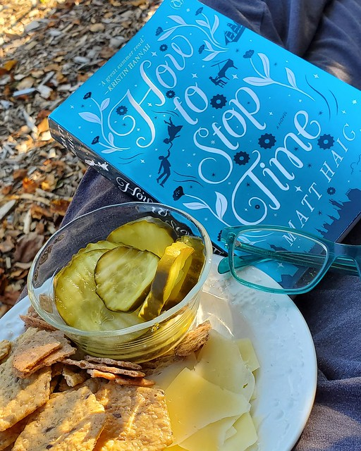 book and snack