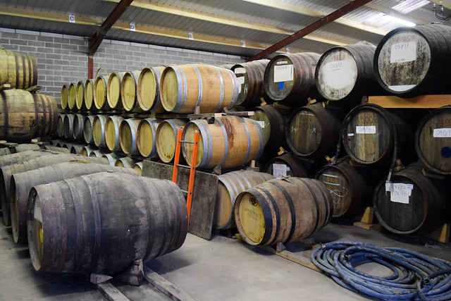 Ageing Barrels at The Somerset Cider Brandy Company