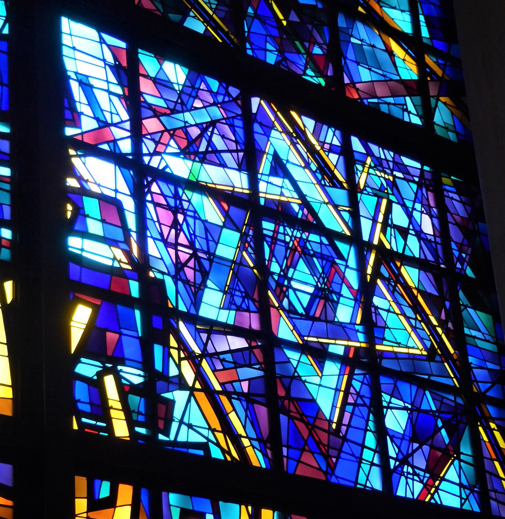Chicago Architecture Foundation Open House, 10/19-20/19, Chicago Loop Synagogue, 16 S. Clark Street, Sanctuary Stained Glass Windows, Star of David