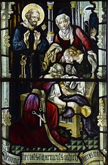 St Peter sees Dorcas's friends mourning for her (Ward & Hughes)
