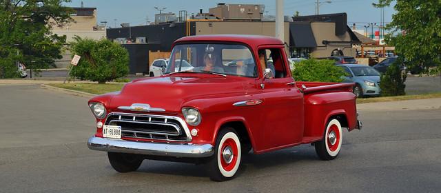 1957 Chevrolet 3100 pickup truck - Queensway, Toronto.
