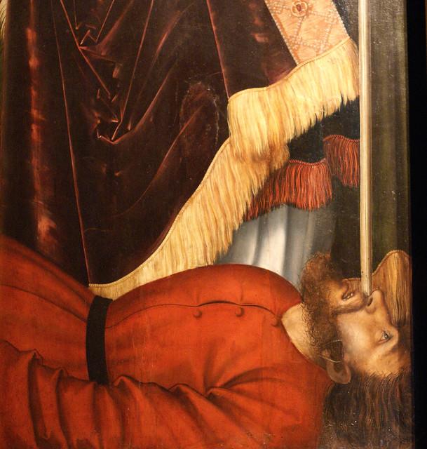 Lucas Cranach  d. Ä., Magdalenenaltar, Werktagsseite, hl. Valentin (Altar of St. Magdalene, weekday panel, St. Valentine) Detail