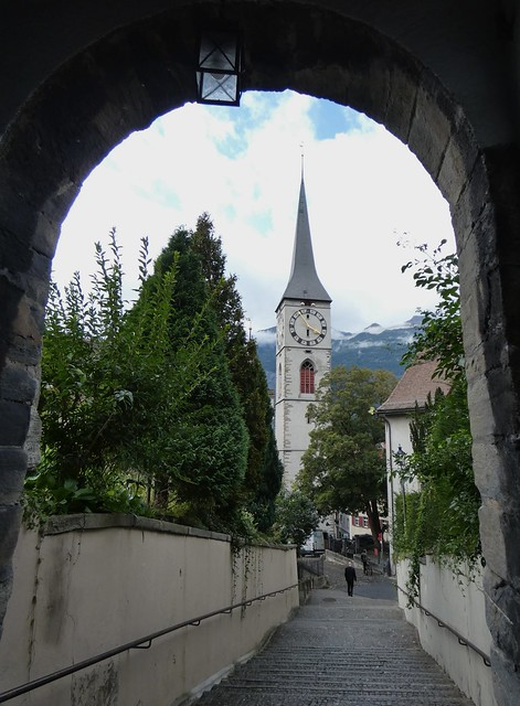 Chur- View to Martinskirche from Obertor