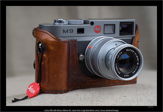 Leica M9 with Macro-Elmar-M, case from Luigi (luigicases.com), focus stacked image