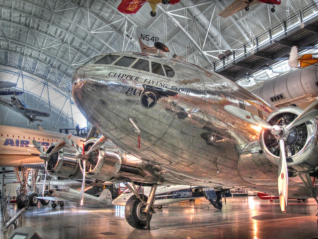 Pan American Airlines-Clipper Flying Cloud-Udvar Hazy Center-National Air and Space Museum-Chantilly Virginia   0189