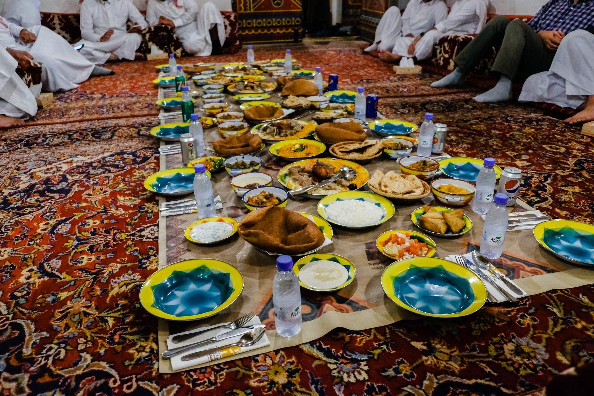 Traditional Saudi meal