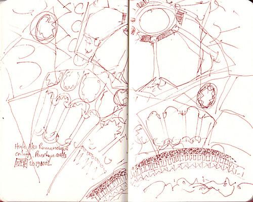 Penrhyn Castle Ceiling - Sketch