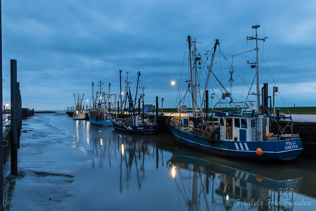 Blue hour at the cutter harbor