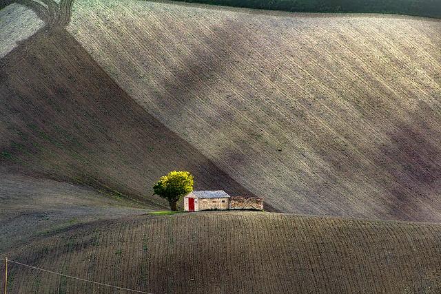 Tiny house under the volcano