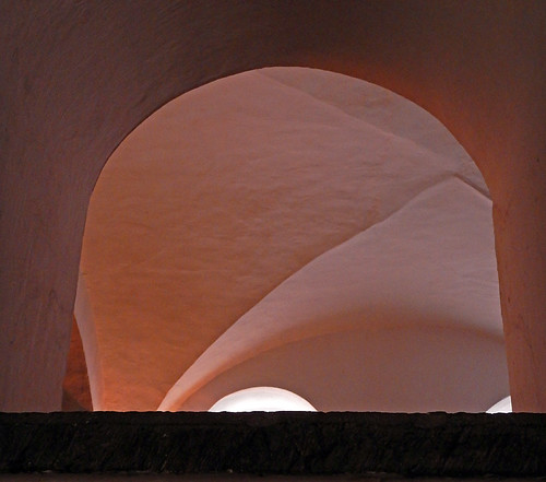 Arched ceiling in a Puebla museum, Mexico