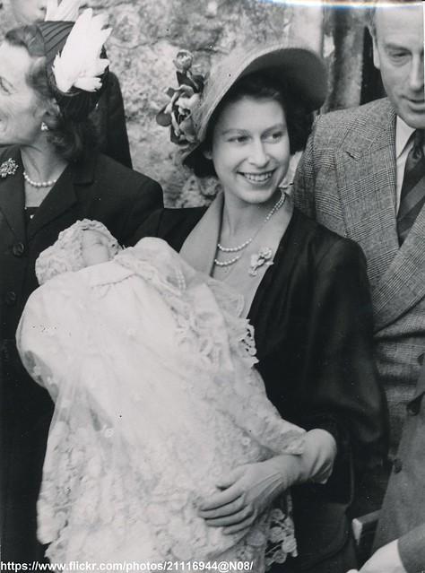 Princess Elizabeth at christening