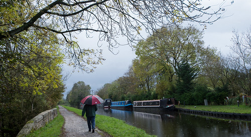 Wet day on the canal