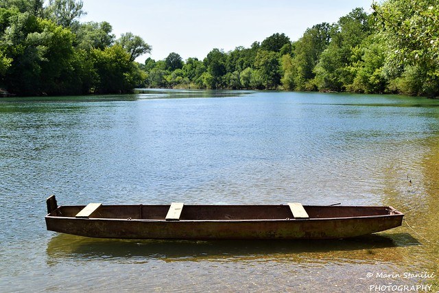 Luka Pokupska, Karlovac County, Croatia - Just a boat on river Kupa....